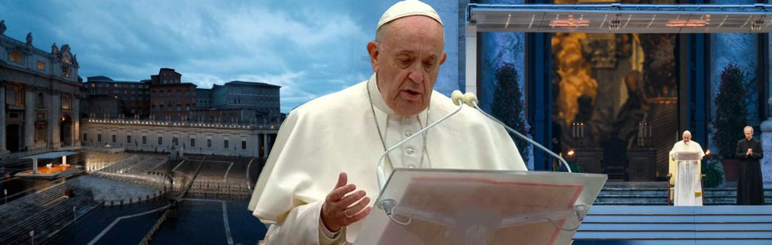 Meditación del Sumo Pontífice  en la bendición extraordinaria Urbi et Orbi por el coronavirus